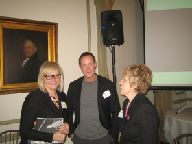 Lynn Sprangers, Andy Nunemaker, and Eileen Schwalbach