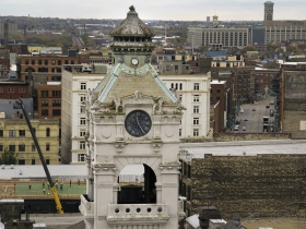 The Historic Third Ward and Mackie Building, viewed from the rooftop of the Railway Exchange Building.