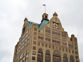 A view of the Faison Building, from the Railway Exchange Building.