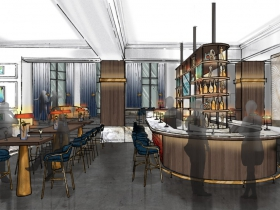 Saint Kate Arts Hotel Bar Rendering