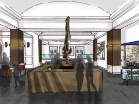 Saint Kate Arts Hotel Lobby Rendering