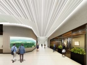 Associated Bank River Center Interior Rendering
