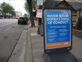 Water Street District Code of Conduct Sign