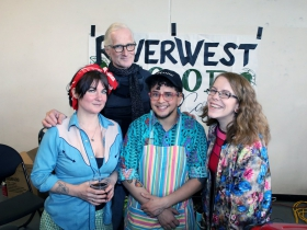 Gretchen, Doug, Sebastian and Rhiannon from the Riverwest CO-OP