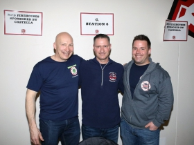 East Side Milwaukee Fire Dept. Lt. Mike Ball, Engine 12 Rescue 1, Gregg Danes and Mitch Gawin, MFD Shop