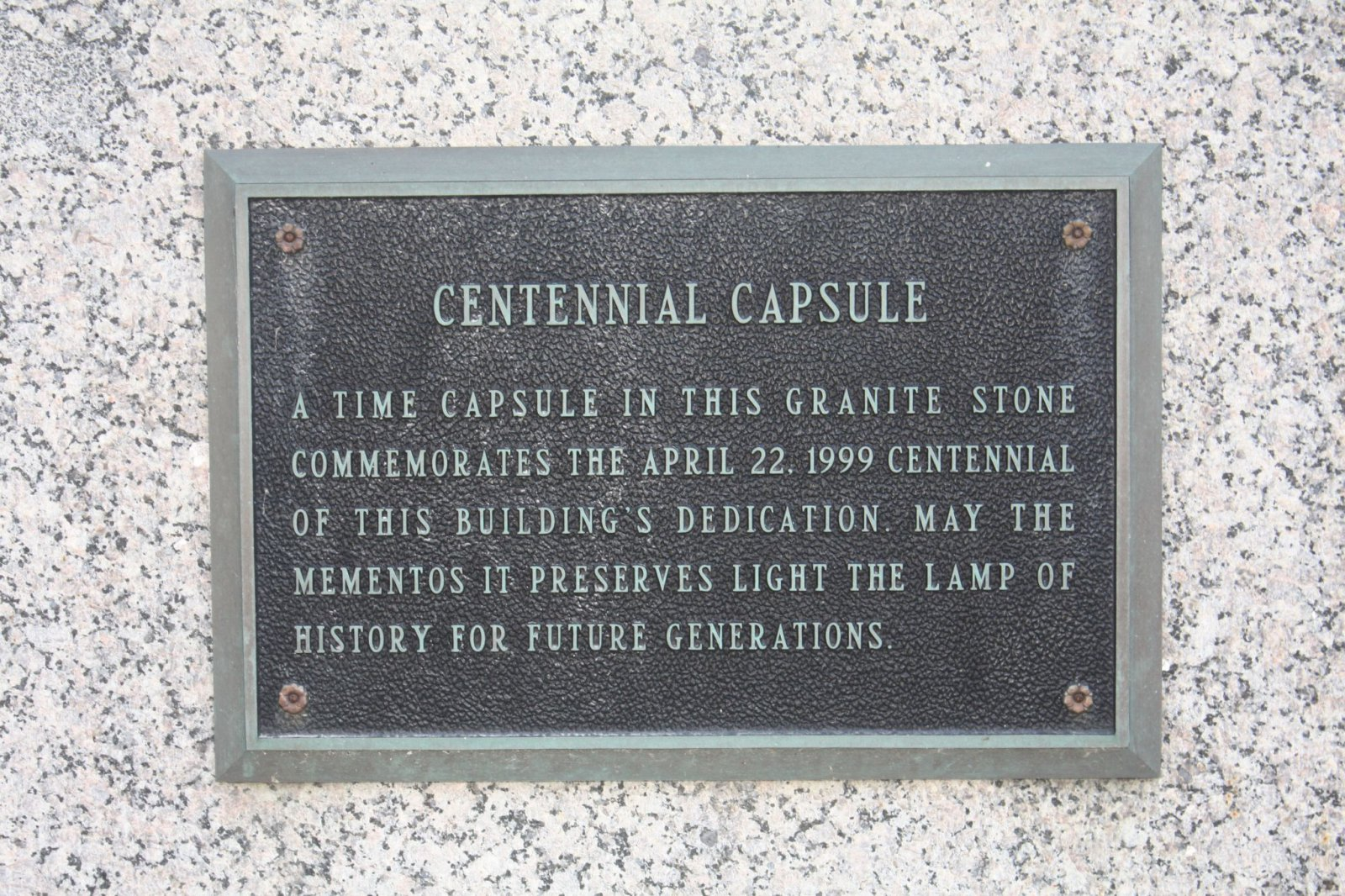 Time capsule at the Federal Courthouse
