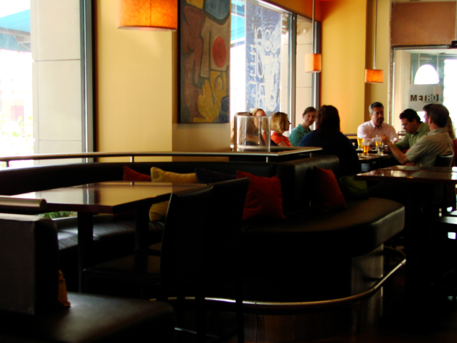 Whole banquette at Hotel Metro.