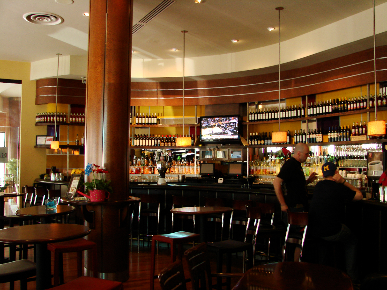 A view of the whole bar at Hotel metro.