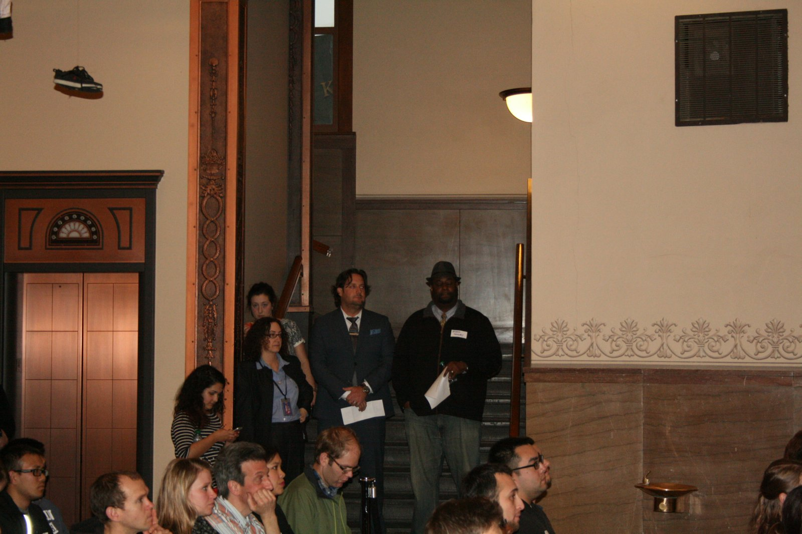 Jodie Tabak, Rick Barrett, and Judge Derek Mosley