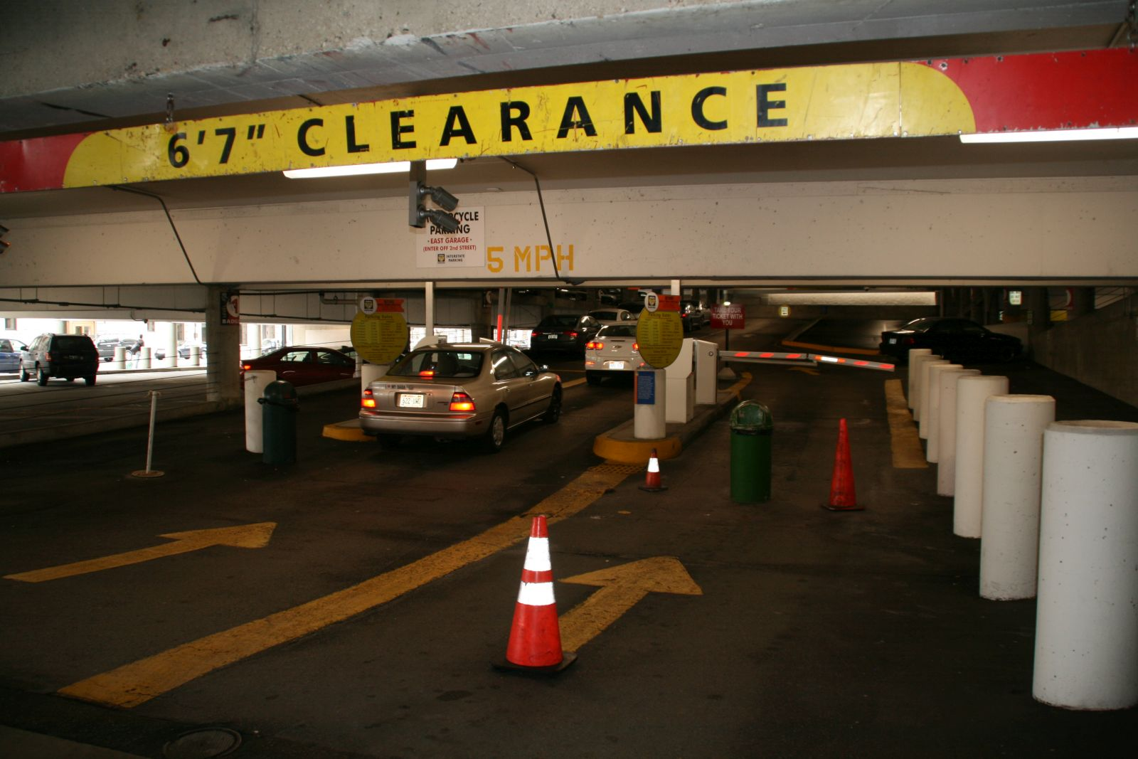 Entrance to the Grand Avenue Parking Garage