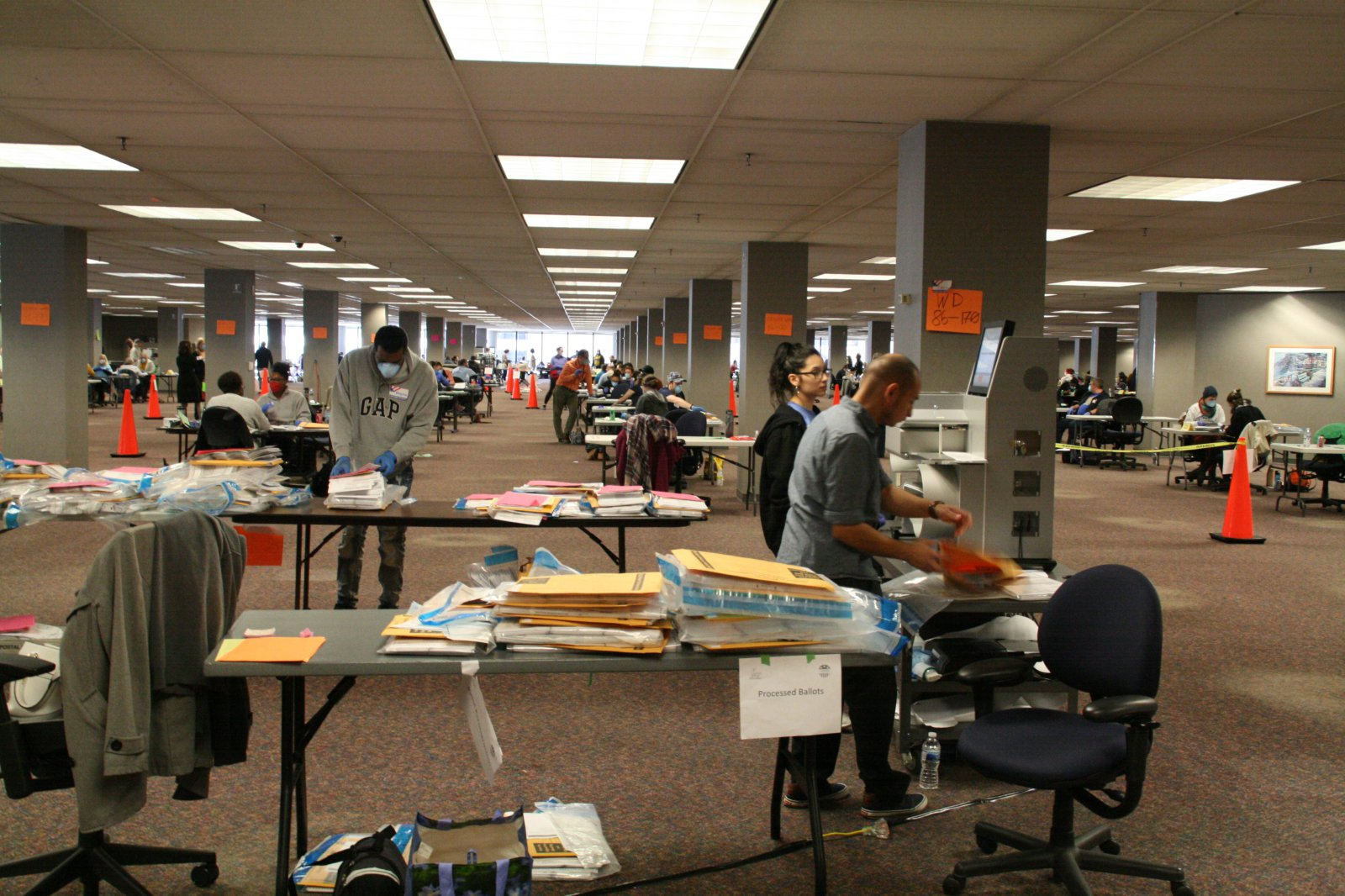 Ballot Processing at 501 W. Michigan St.