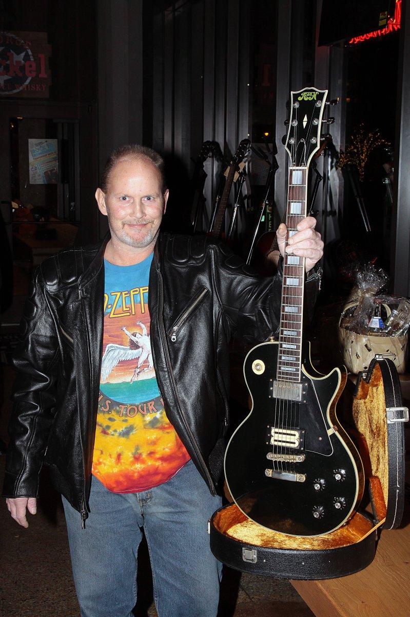 Donated guitar by Mike Zunac and Linda Brodeske