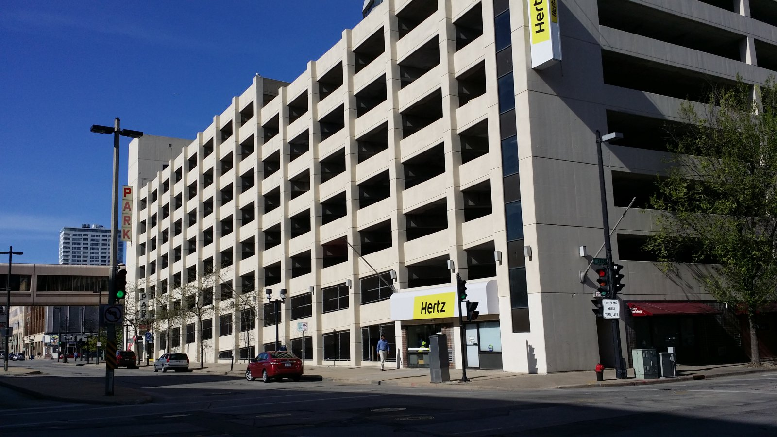 Parking garage at N. 4th and W. Wells streets.