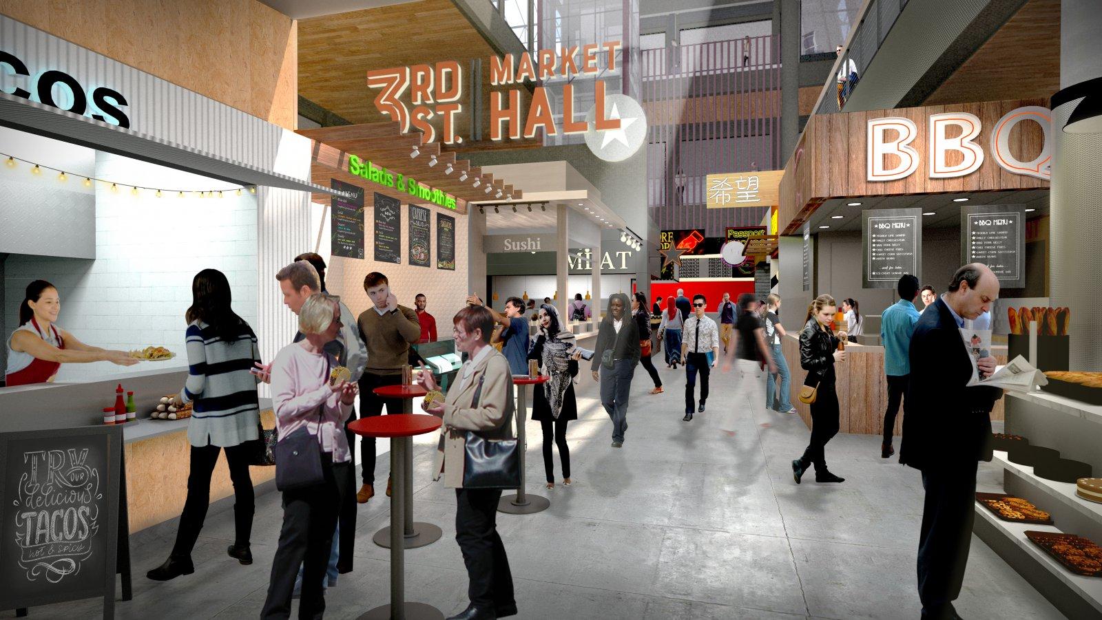 3rd Street Market Hall Rendering