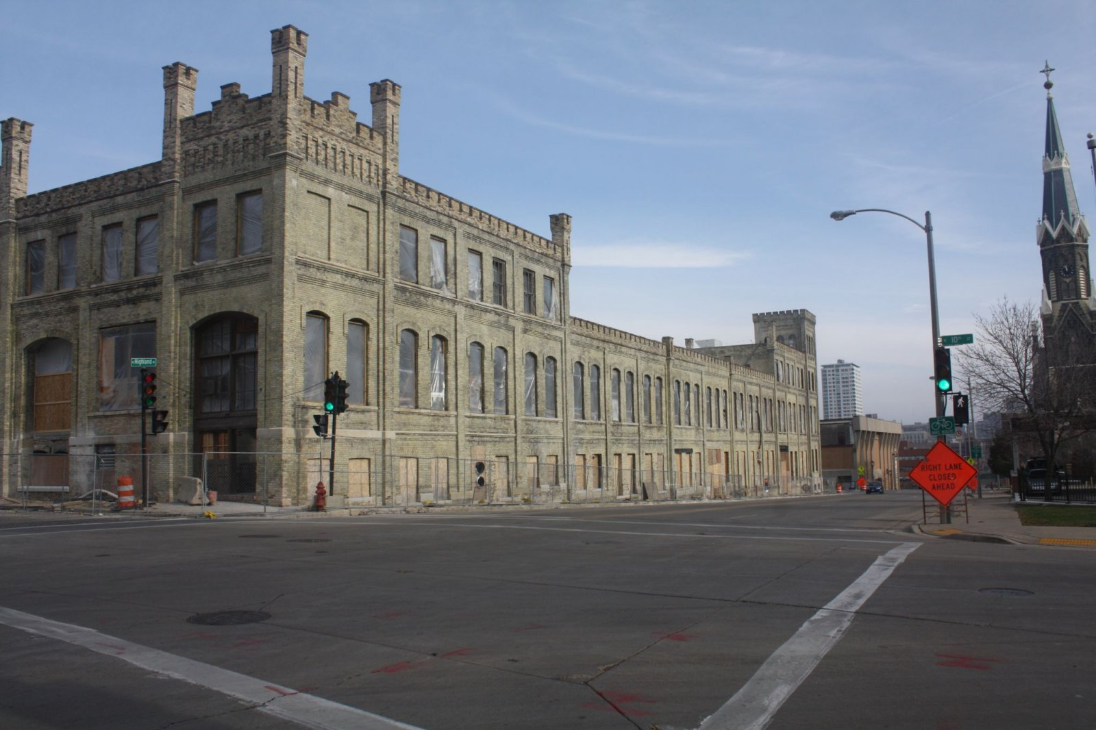 A Pabst building on Highland Avenue