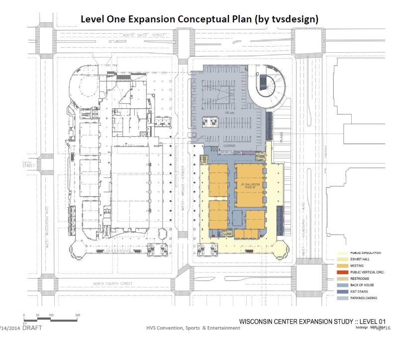 Convention Center Conceptual Expansion Plan - Level 1