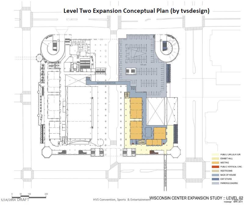 Convention Center Conceptual Expansion Plan - Level 2