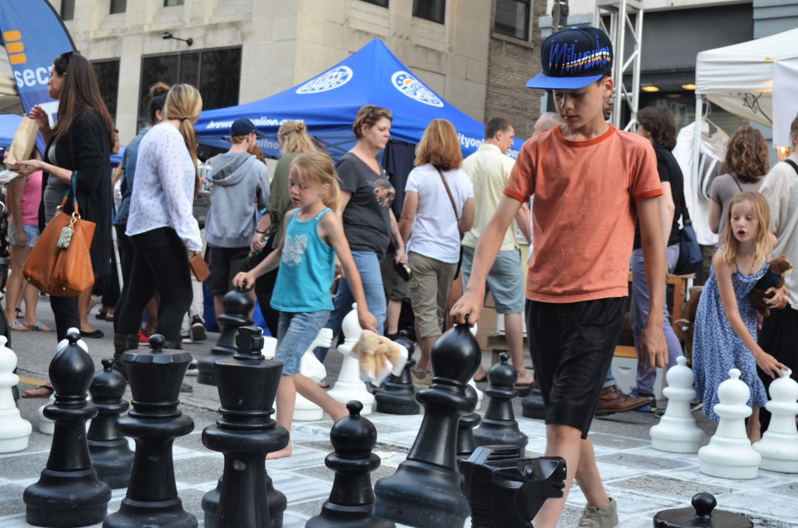 Playing chess at Night Market