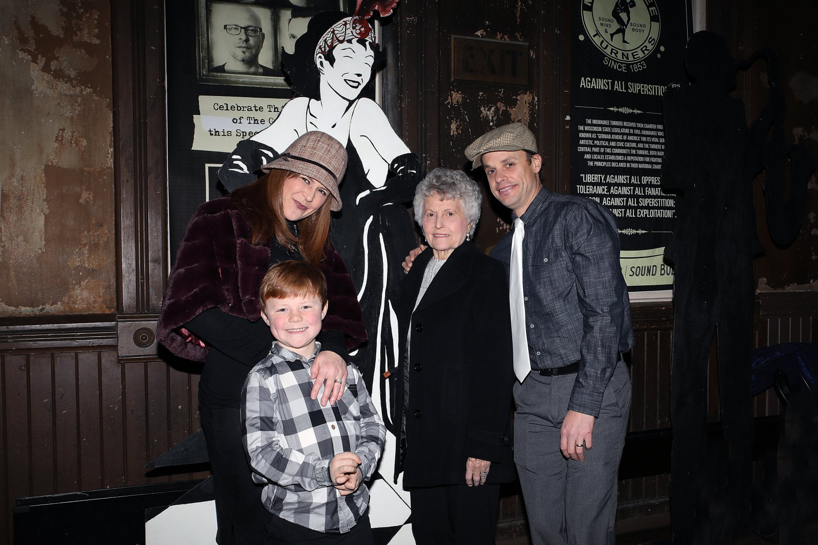 Kristin and Max Hoffmann, Shirley Hirshman and Anthony Hoffmann