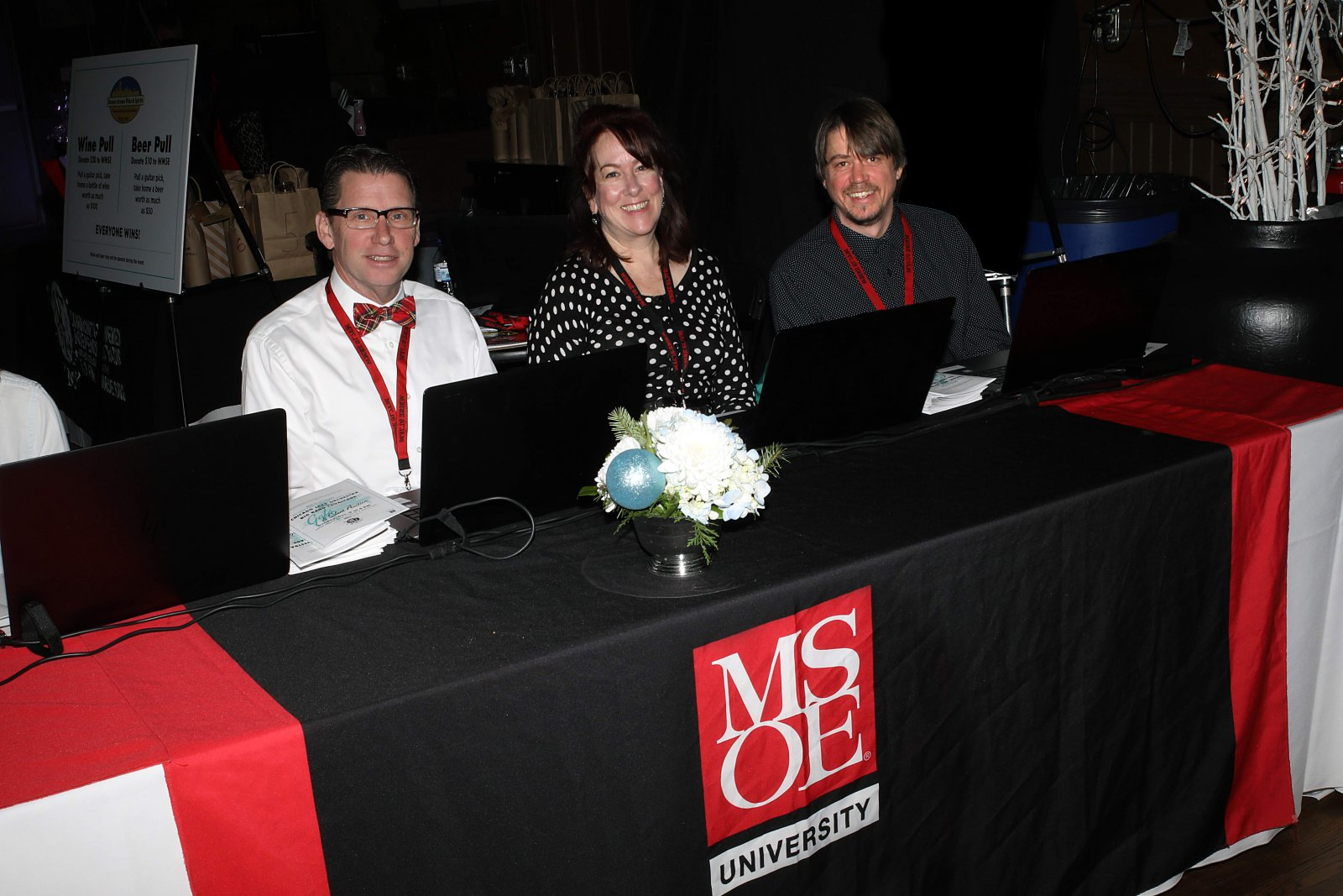 WMSE's 5th Annual Big Band Grandstand and Silent Auction volunteers