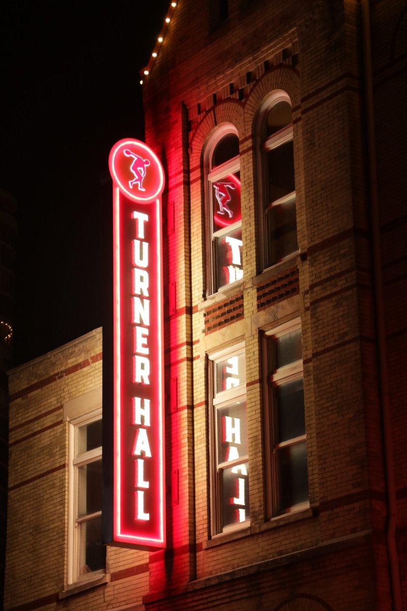 Turner Hall Lit Up