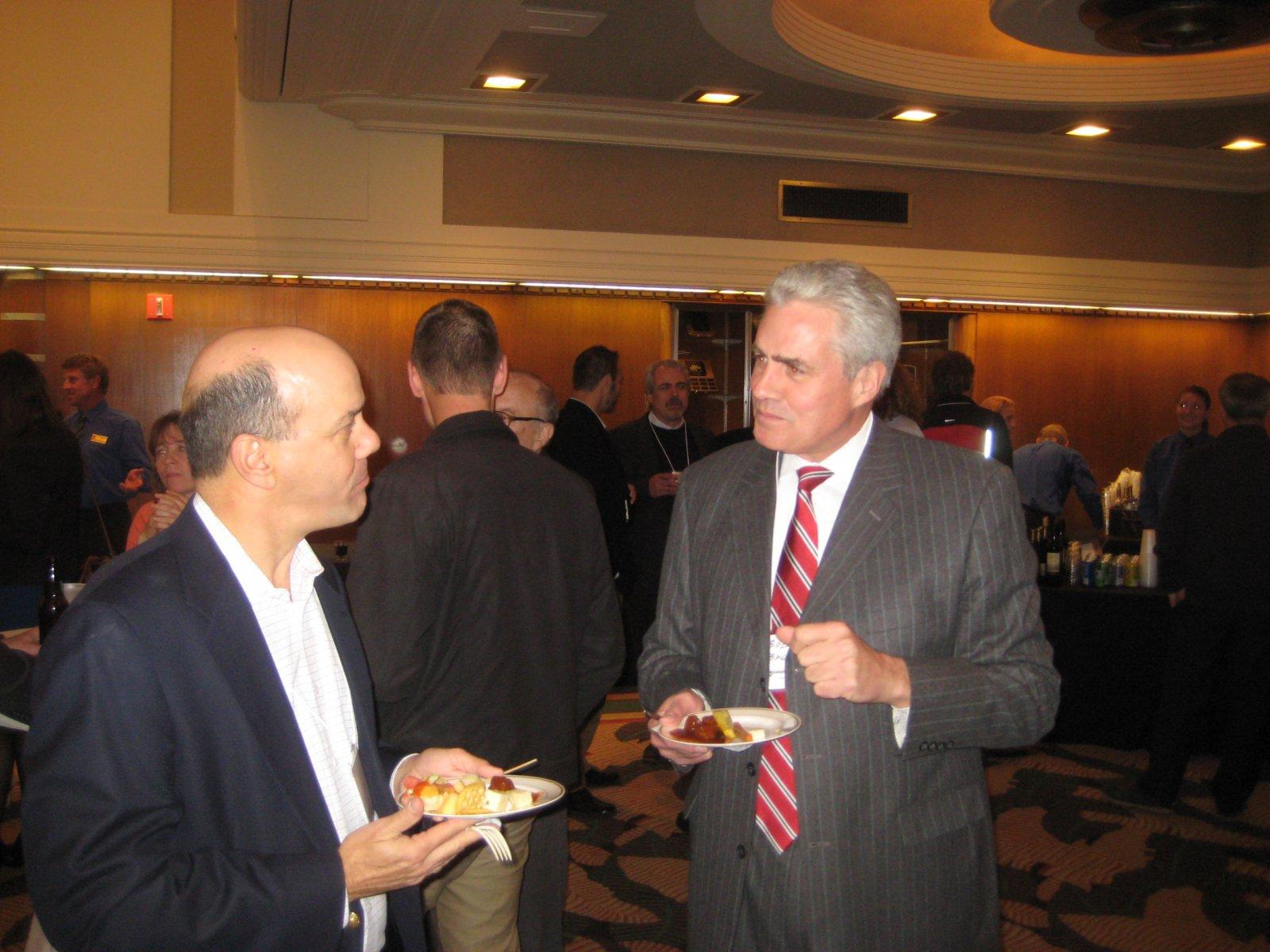 Jeff Bentoff and Ald. Bob Bauman.