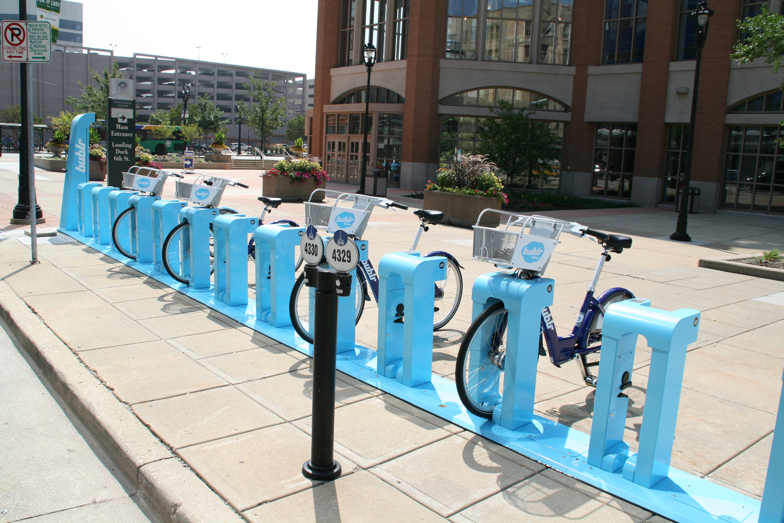 Bublr Bikes at the Wisconsin Center