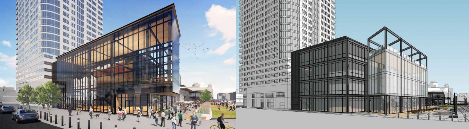 Live Block from Juneau Ave (Updated plan on left)