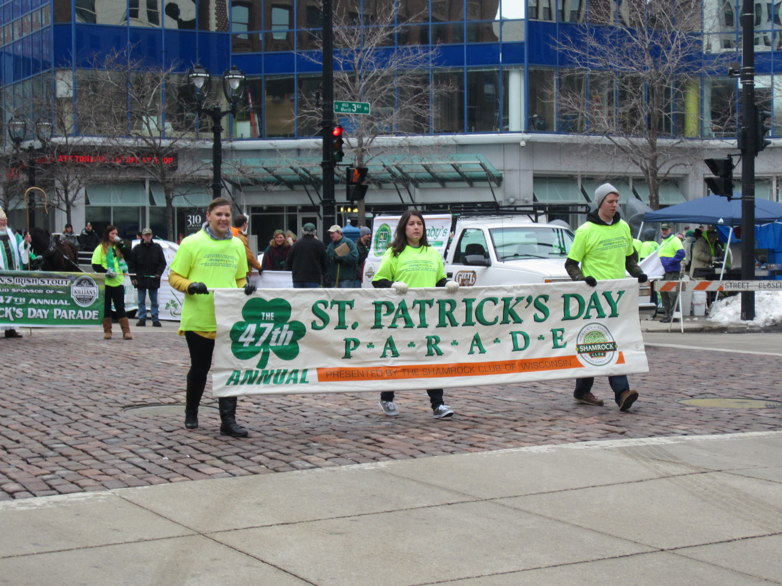 St. Patrick\'s Day Parade Opening Banner