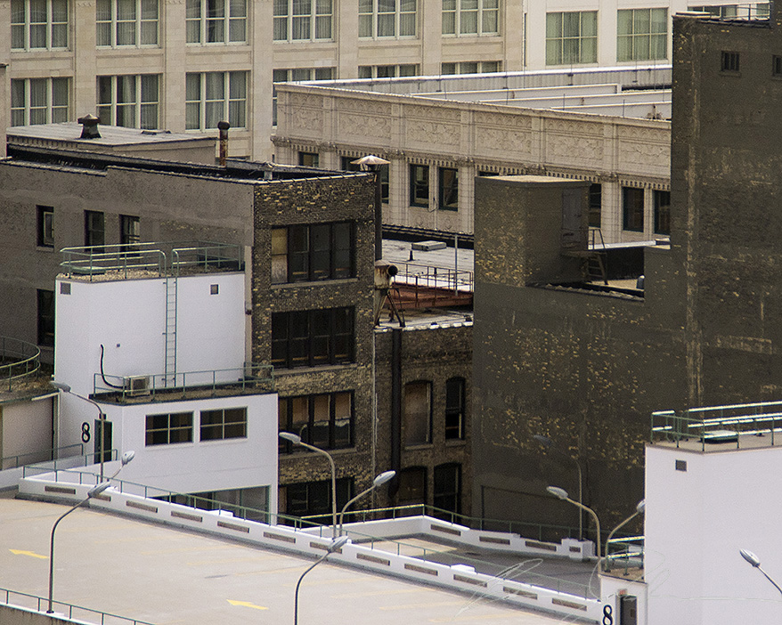 Back of the Posner building as seen from Polaris.