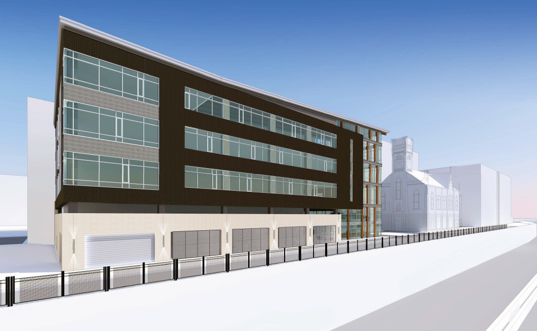 Pabst Business Center Rendering Looking Southeast
