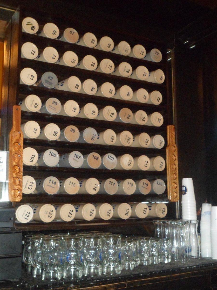 Stein club steins. Photo taken March 8th, 2013 by Audrey Jean Posten.