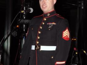 Sgt. Nicholas Ranum from the Milwaukee Marine Corps recruiting station