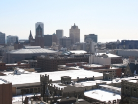 Downtown Milwaukee from The Brewery