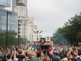 Bango Starts the Bucks Championship Parade