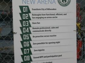 Bucks Arena Goal Sign