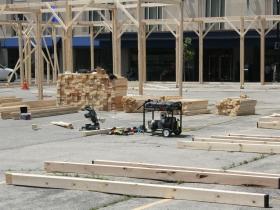 Moire Pavilion Construction