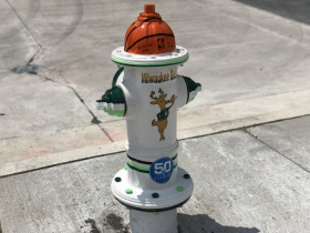 Milwaukee Bucks Fire Hydrant