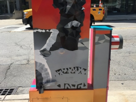Utility Box Mural at 300 W. Wisconsin Ave.