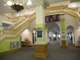 The front lobby of the Central Library