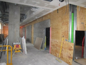 The build out of Carson's Prime Steaks and Famous BBQ in The Moderne.