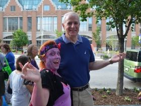Mayor Tom Barrett with a Fairy