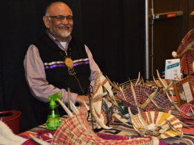Antler Basketry at the Hunting Moon Pow Wow 2018