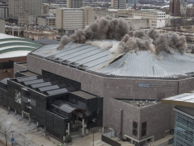 Bradley Center Roof Demolition