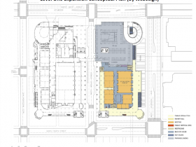 Convention Center Conceptual Expansion Plan - Level 1