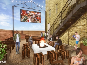 Rendering of proposed tavern at 324 W.State St.