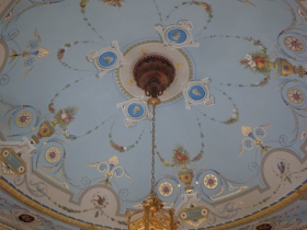 The Belvedere's ceiling.
