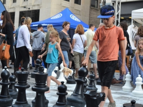Playing chess at Night Market
