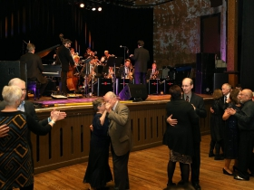 Dancers enjoyed The Chicago Jazz Orchestra's Big Band Cavalcade