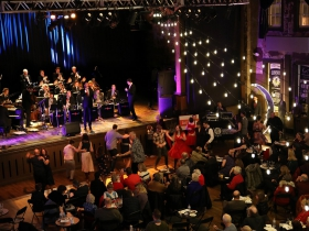 WMSE's 5th Annual Big Band Grandstand w/ Dewey Gill featuring the Chicago Jazz Orchestra's Big Band Cavalcade and Gala & Silent Auction was held at Turner Hall Ballroom on Sunday December 9, 2018